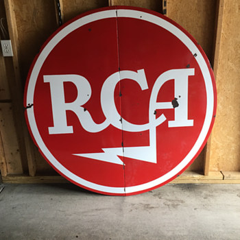 """RCA"" 5' porcelain sign & 16' Western Auto porcelain sign  - Signs"