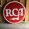"""RCA"" 5' porcelain sign & 16' Western Auto porcelain sign"