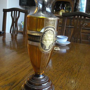 Bohemian schwartzlot vase, possibly steinschönau - Art Glass