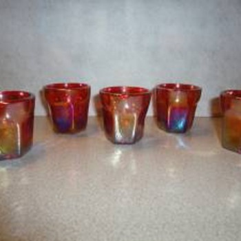 Red Shot Glasses - Glassware