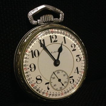 Elgin Father Time Pocket Watch (Railroad?)