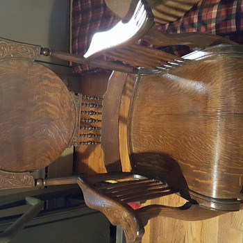 oak rocking chair. bought at estate sale