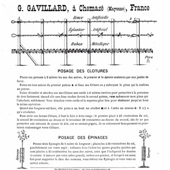 Early French Barbed Wire advertising - Advertising