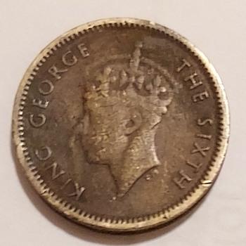 1949 Hong Kong Five Cents - World Coins