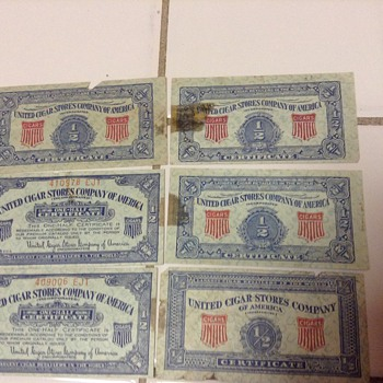 united cigar stores company of america coupon - Tobacciana