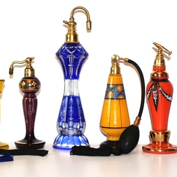 Czechoslovakia perfume bottles - circa 1920-30 - Marked - Bottles