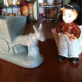 Vintage Pottery Planters - Pottery