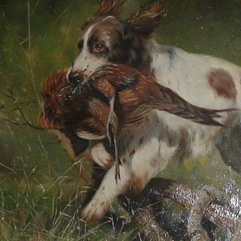 Painting Of A Dog By Laura Cassidy - Animals