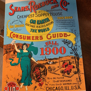 1970 Reproduction of 1900 Sears, Roebuck and Co Catalog - Books