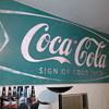 Green Coca Cola Sign