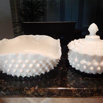 Fenton milk glass hobnail - Glassware