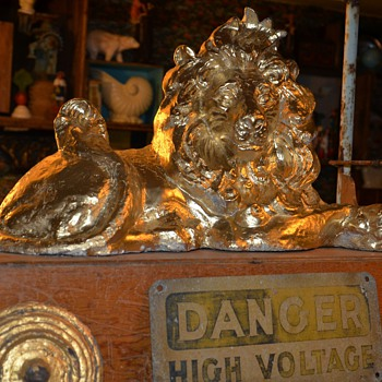 Before / After My Shabby Chic Gold Lion - Animals
