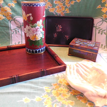 Cloisonne Vase and Box  - Asian
