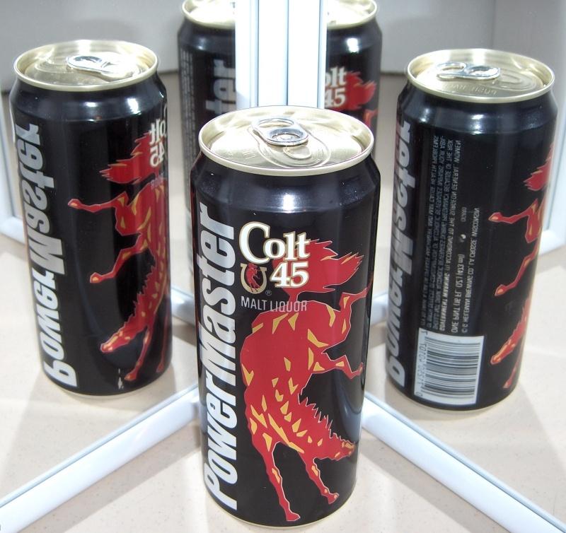 COLT 45 POWERMASTER MALT LIQUOR Beer CAN w Horse Heileman LaCrosse WISCONSIN gd1