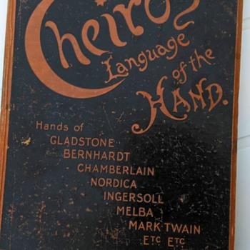 1901 Book on Palm Reading, Flea Market Find 3 Euro - Books