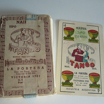 """Tango"" Spanish playing cards unopened deck"