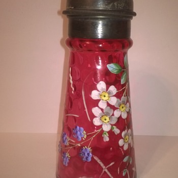 More Highly Decorated Sugar Shakers - Art Glass