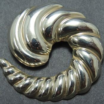 2 Modernist Sterling Silver Pins