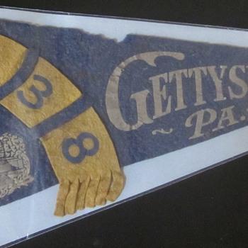 1938 Gettysburg Pennant. - Advertising