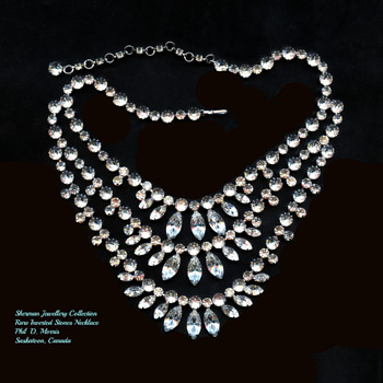 Sherman Necklace, With Rare Inverted Stones, Early 1950's - Costume Jewelry