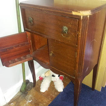 Antique Smoking Pipe Cabinet, Early 1900s?