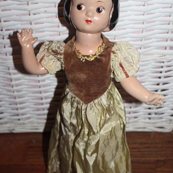 My 1937 Knickerbocker Snow White Composition Doll - Dolls