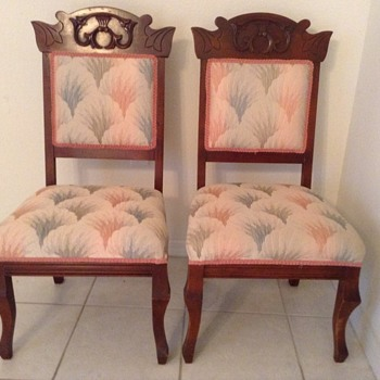 2 antique fireside chairs
