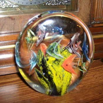 Aquarium Paperweight - Art Glass