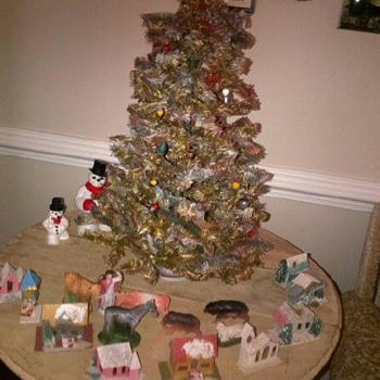 Vintage light up Christmas tree - Christmas