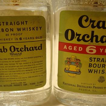 1/2 PINTS CRAB ORCHARD WHISKEY BOTTLES...1950's  - Bottles