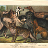 Chromolithograph dog print