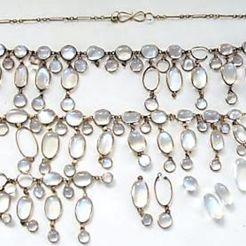 Vintage Moonstone Necklace Pair for Repair - Fine Jewelry