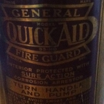 General quick aid fire guard.