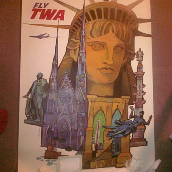 New York TWA Poster - Posters and Prints