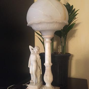 Mystery Alabaster Lamp - Art Nouveau