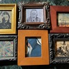 Cool collection of tiny, framed prints!