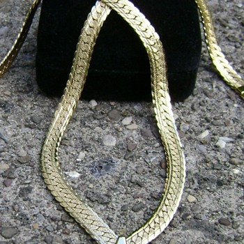 Napier Serpentine Necklace - Costume Jewelry