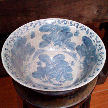 China Blue and White Bowl Signed with Mark - Asian