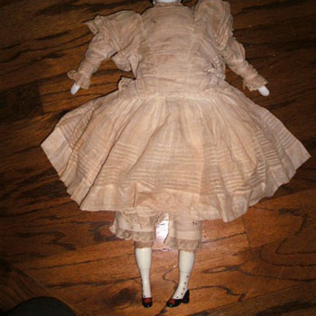 Antique German China Head Doll - Dolls