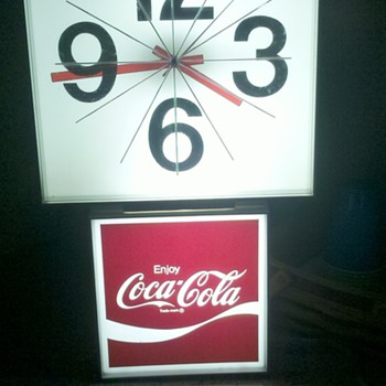 coca cola lighted clock sign - Coca-Cola