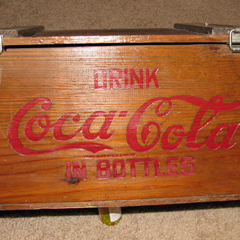 Vintage Coca Cola Wood Crate - Coca-Cola