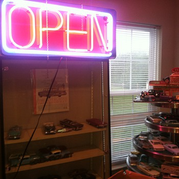 OPEN sign really brightens atmosphere in one of my toy rooms - Signs