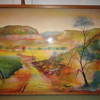 Mountain Scene Watercolor - Fine Art