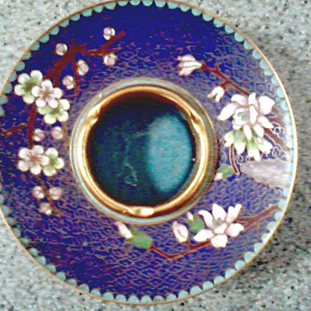 "Beautiful Chinese "" Jingfa"" Cloisonne Brush Washing Dish / Circa 1950's 60's - Asian"