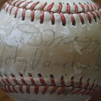 Old timers game signed baseball from the late 70's