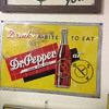 Dr.Pepper sign , early tin panted embossed sign 10-2-4