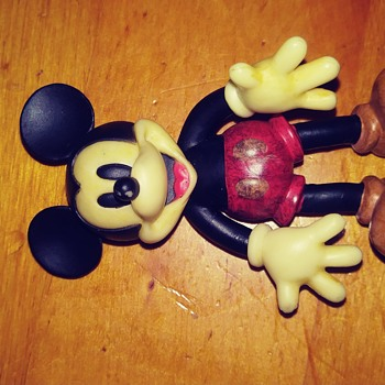 Mickey Mouse Rubber Toy Figurine