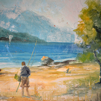 River Fly Fishing Scene - Fine Art