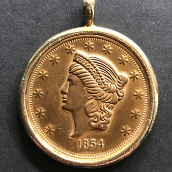 1854 Kellogg & Co. Gold Coin - Real? - US Coins