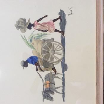 Mule pulling paddlers wagon